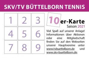 10-erKarte SKV/TV Büttelborn Tennisabteilung