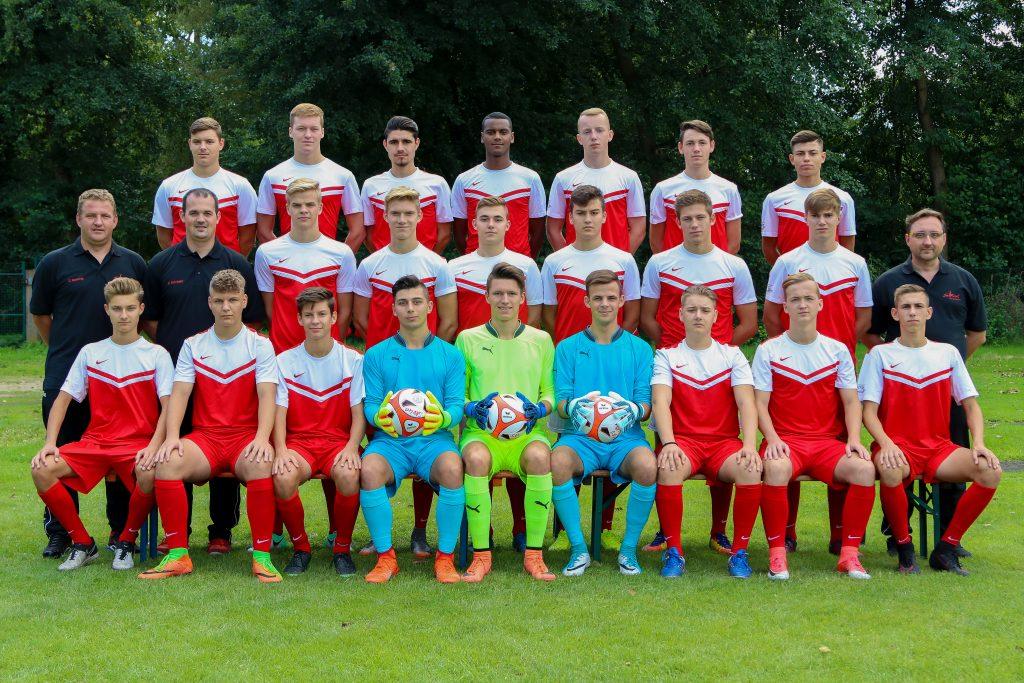 Gruppenbild U19 der SKV Büttelborn Fußball Abteilung